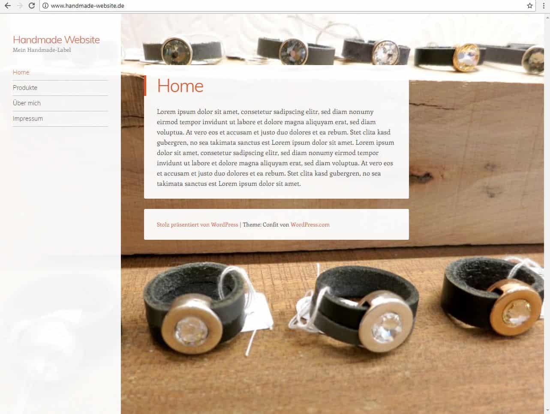 Fertige WordPress Homepage